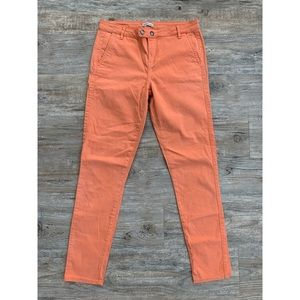 calvin klein orange pants